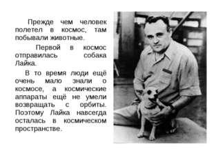 Прежде чем человек полетел в космос, там побывали животные. Первой в космос