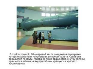 В этой огромной, 18-метровой кегле создаются перегрузки, которые космонавт и