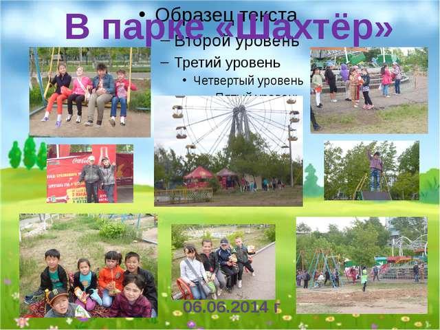 В парке «Шахтёр» 06.06.2014 г