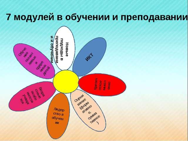 7 модулей в обучении и преподавании Новые подходы в преподавании и обучении О...