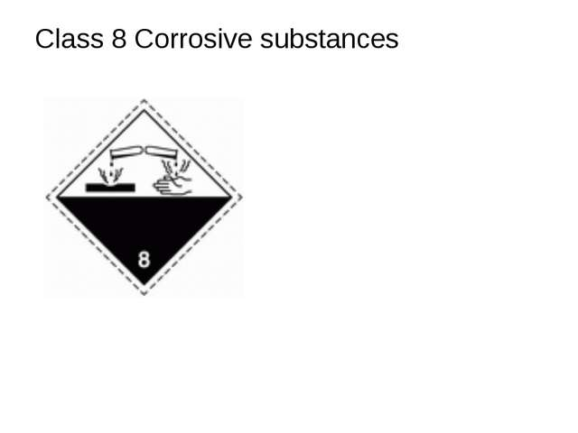 Class 8 Corrosive substances
