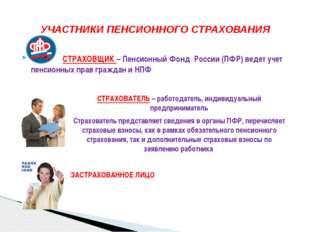 СТРАХОВЩИК – Пенсионный Фонд России (ПФР) ведет учет пенсионных прав граждан