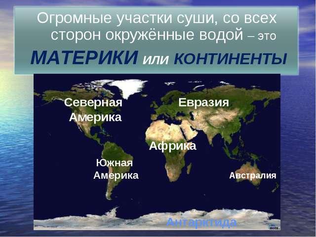 Евразия Африка Австралия Южная Америка Северная Америка Антарктида