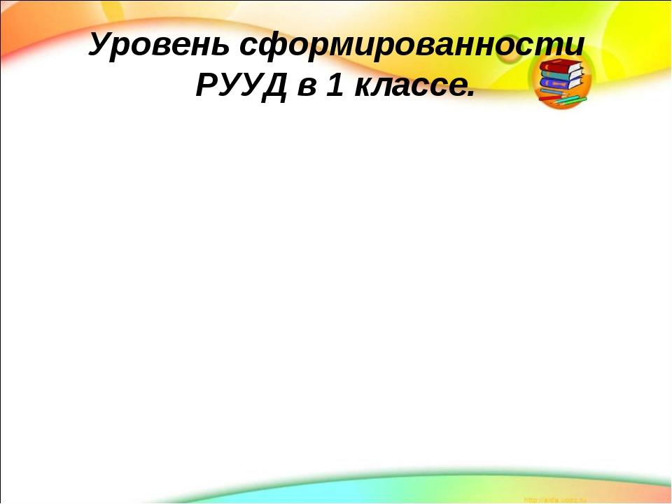Уровень сформированности РУУД в 1 классе.