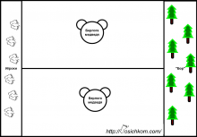 игра у медведя во бору - схема