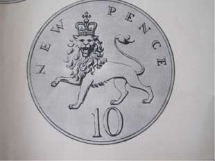 The new 10 pence coin The source for this coin is the arms of England where w