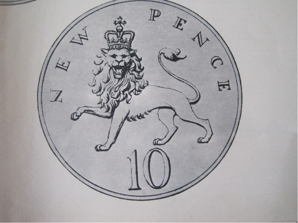 The new 10 pence coin The source for this coin is the arms of England where w...