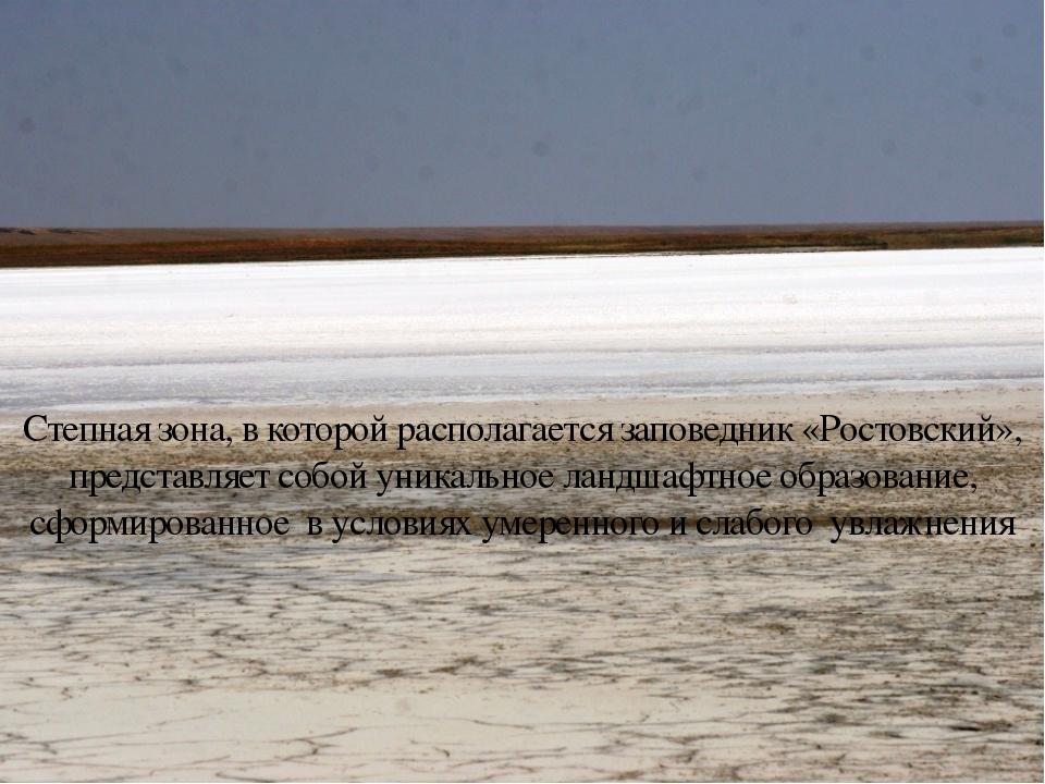 Степная зона, в которой располагается заповедник «Ростовский», представляет...