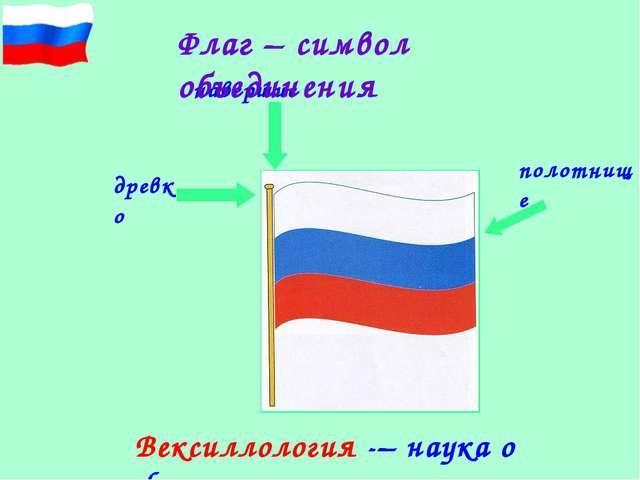 навершие полотнище древко Флаг – символ объединения Вексиллология -– наука о...