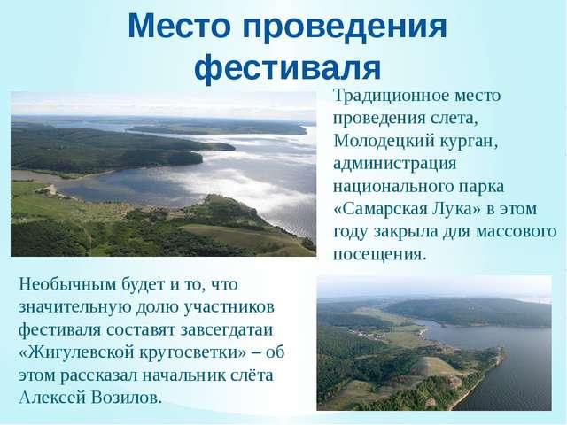 Место проведения фестиваля Традиционное место проведения слета, Молодецкий ку...