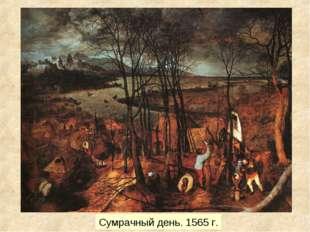 Сумрачный день. 1565 г.