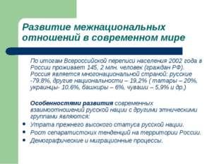 Развитие межнациональных отношений в современном мире По итогам Всероссийско