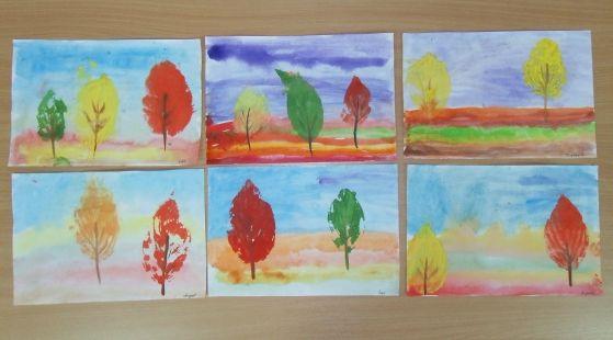 Золотая осень. / поделки из природного материала / осенние поделки / детские рисунки / детские поделки