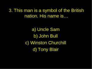 3. This man is a symbol of the British nation. His name is… Uncle Sam John Bu