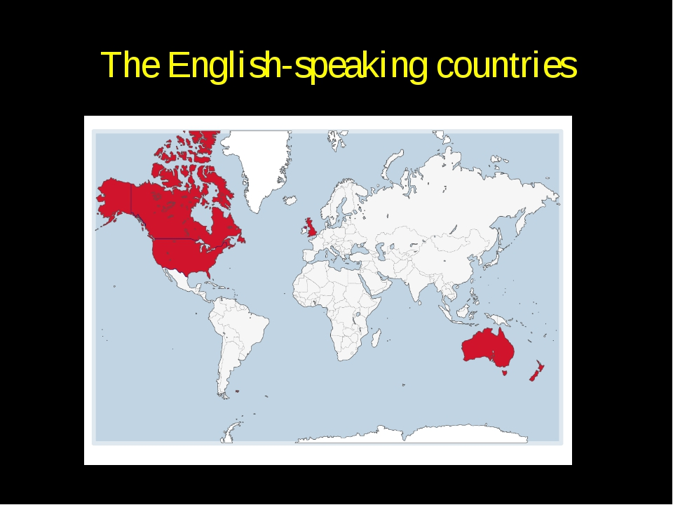 The English-speaking countries