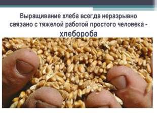 Выращивание хлеба всегда неразрывно связано с тяжелой работой простого челове