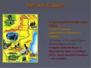 Балканский фронт Гурко в середине декабря занял Софию. Отряд Скобелева стреми