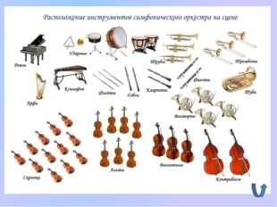 Многочисленный коллектив музыкантов, играющих на разных инструментах – это….