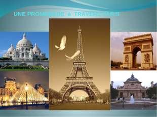 UNE PROMENADE à TRAVERS PARIS Paris,capitale de la France est une des plus g