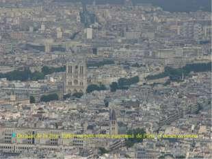 Du haut de la Tour Eiffel on peut voir le panorama de Paris et de ses environs.