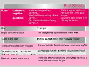 WATCH OUT! We can also use did in past simple statements for emphasis. Why d