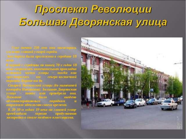 Уже почти 230 лет эта магистраль служит главной улицей города. Эта дорога бы...