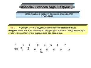 f(x) x 1 2 3 4 5 6 7 8 9 2 4 6 8 10 12 14 16 18