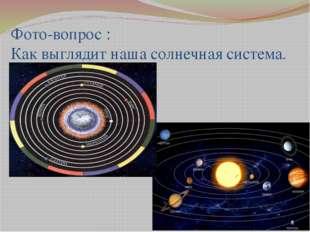 Фото-вопрос : Как выглядит наша солнечная система.