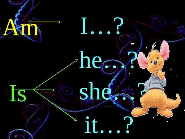 Am Is I…? he…? she…? it…?