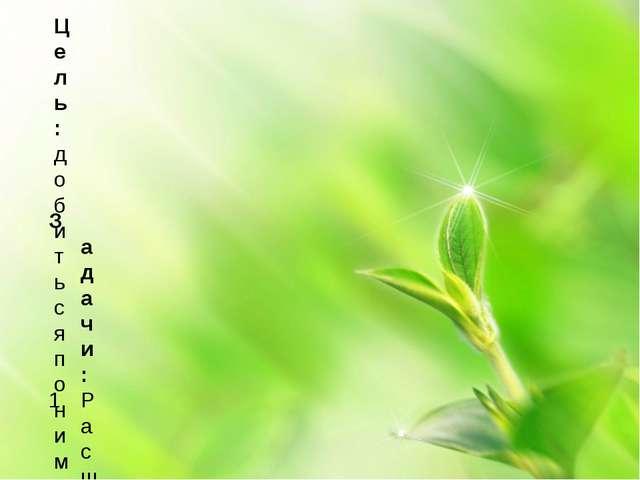 Цель: добиться понимания взаимосвязи человека и природы и необходимости ответ...
