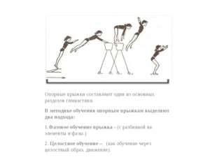 Опорные прыжки составляют один из основных разделов гимнастики. В методике о