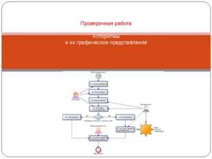 Проверочная работа Алгоритмы и их графическое представление