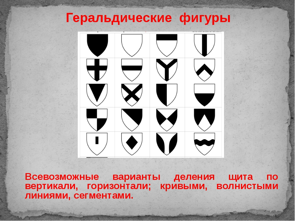 Всевозможные варианты деления щита по вертикали, горизонтали; кривыми, волнис...