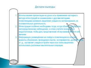 Использование презентации на уроке есть применение наглядного метода иллюстра