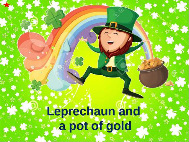 Leprechaun and a pot of gold