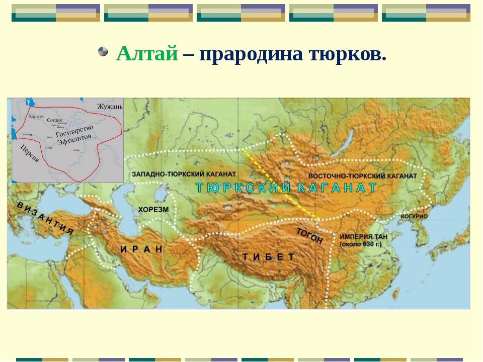 Алтай – прародина тюрков.