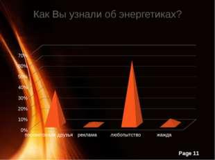 Как Вы узнали об энергетиках? Page