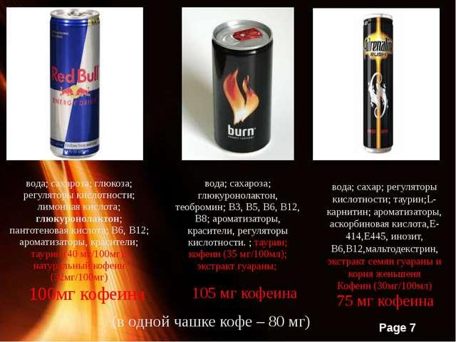 вода; сахароза; глюкоза; регуляторы кислотности; лимонная кислота; глюкуронол...
