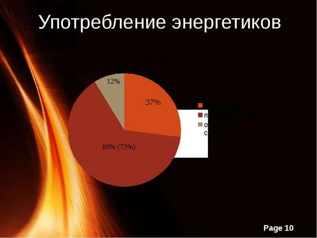 Употребление энергетиков Page
