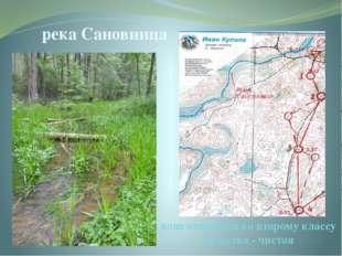река Сановница вода относится ко второму классу качества - чистая Река Сановн