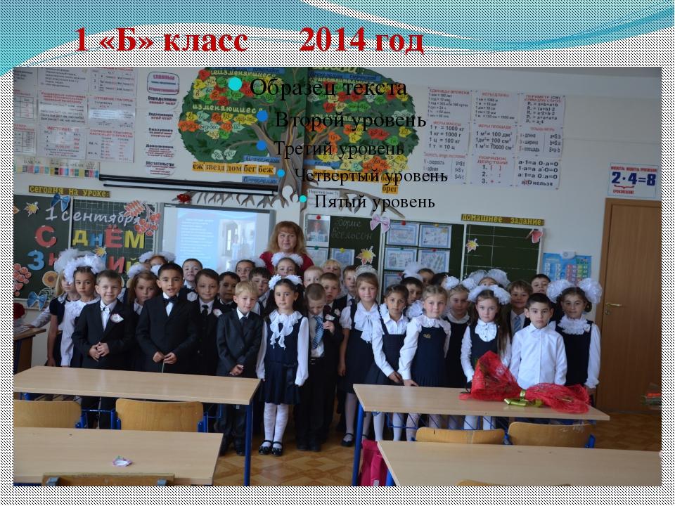1 «Б» класс 2014 год