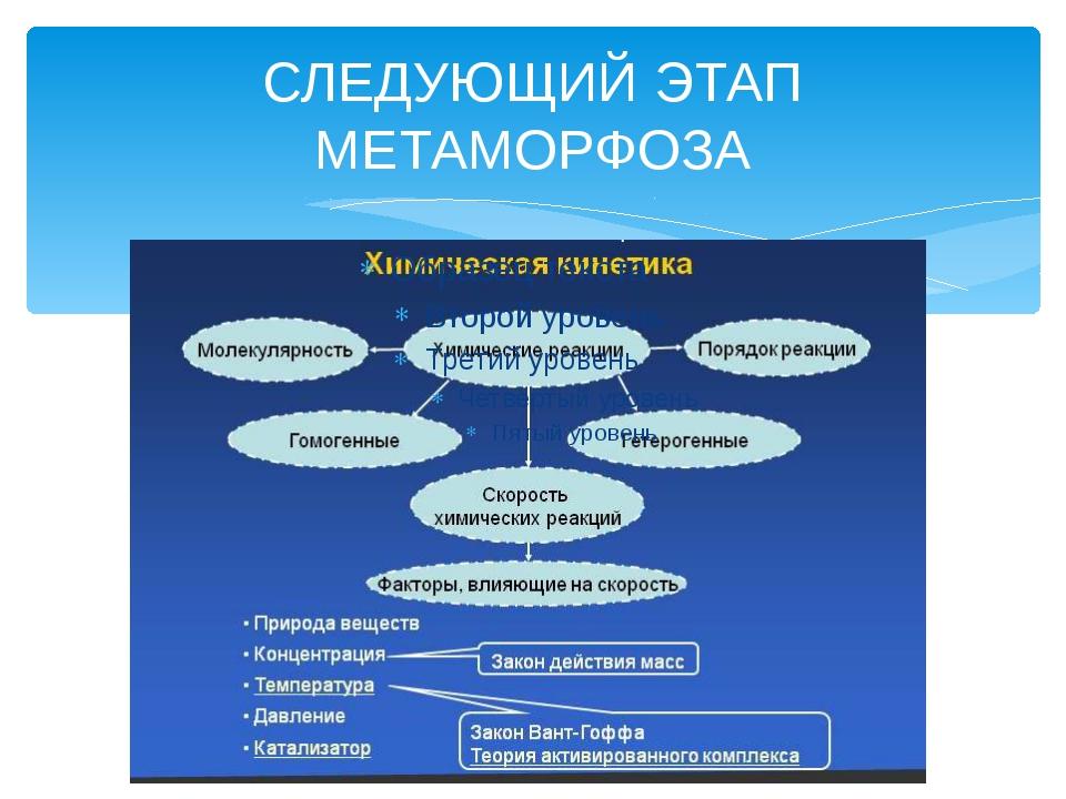 СЛЕДУЮЩИЙ ЭТАП МЕТАМОРФОЗА