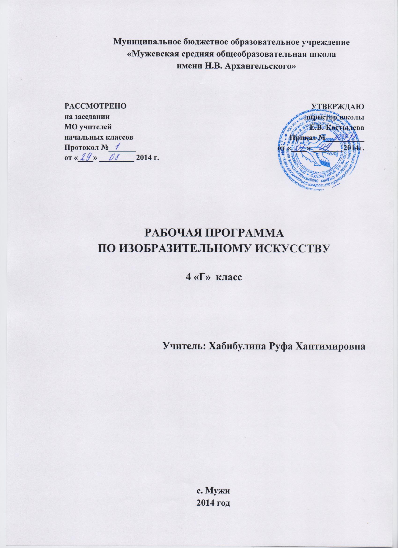 Рабочая программа по изо2 класс неменский фгос школа россии