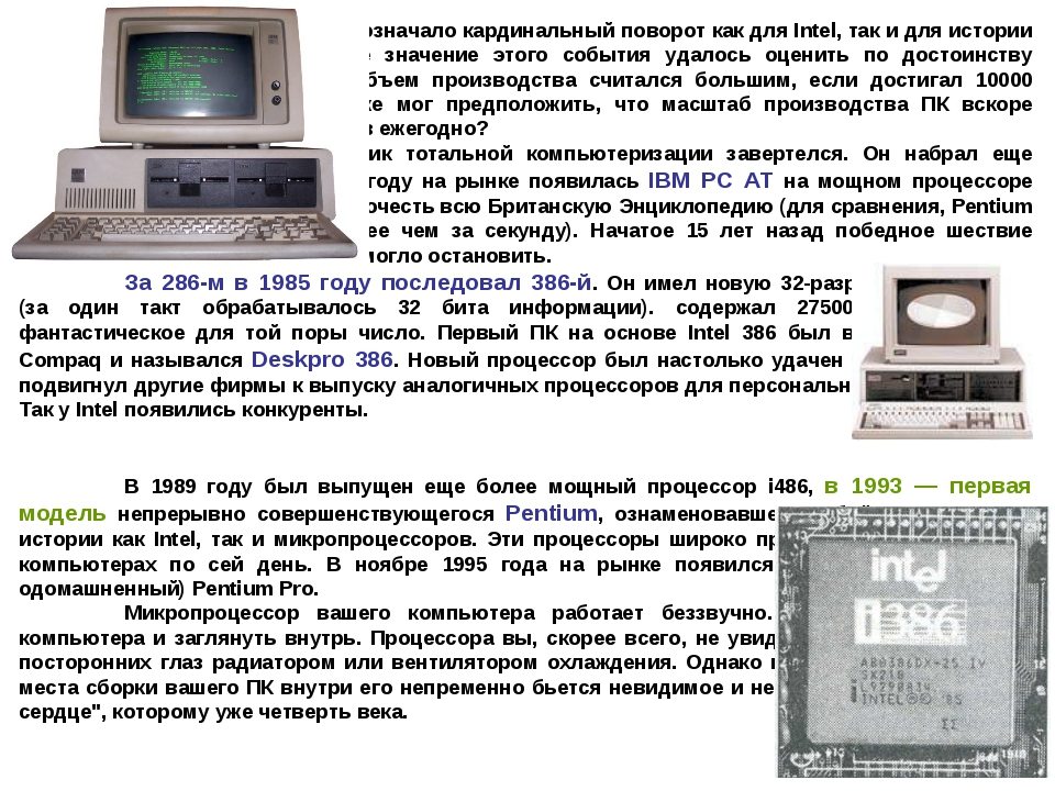 Сотрудничество с IBM означало кардинальный поворот как для Intel, так и для...
