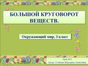 Окружающий мир, 3 класс Урок № 6 Автор: Устинова Маргарита Алексеевна