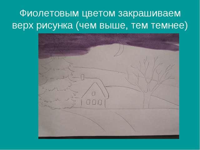 Рисование на тему зимний пейзаж 1 класс презентация