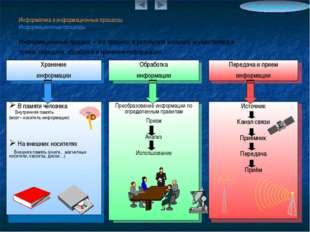 Информатика и информационные процессы Информационные процессы Информационный