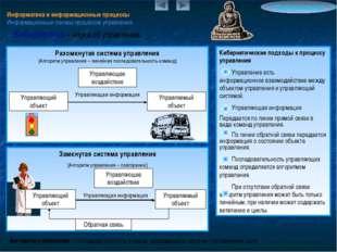 Информатика и информационные процессы Информационные основы процессов управле