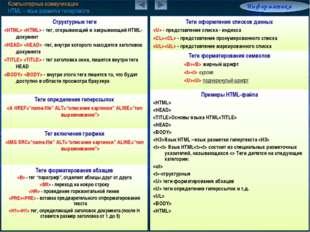 Компьютерные коммуникации HTML – язык разметки гипертекста Информатика 7.6/8