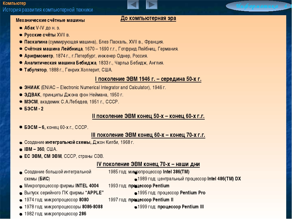 Механические счётные машины Абак V-IV до н. э. Русские счёты XVII в. Паск...